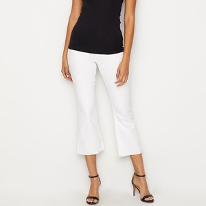 SPANX Control Top White Denim Cropped Flare Size S